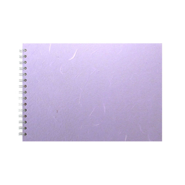 A4 Landscape, Lilac Watercolour Book by Pink Pig International