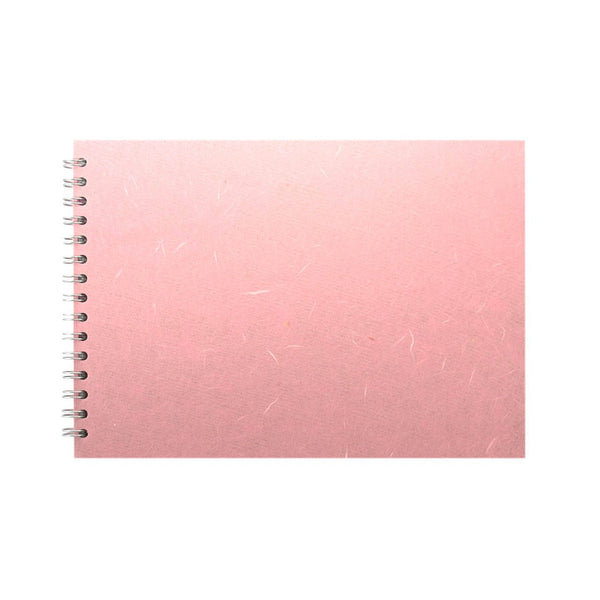 A4 Landscape, Pale Pink Watercolour Book by Pink Pig International