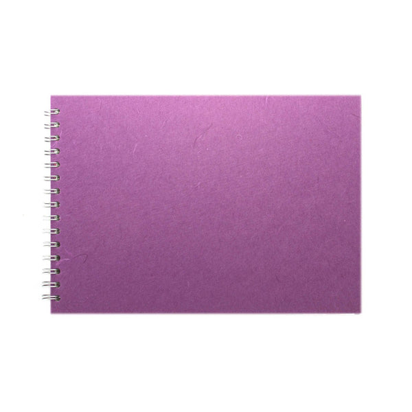 A4 Landscape, Purple Watercolour Book by Pink Pig International