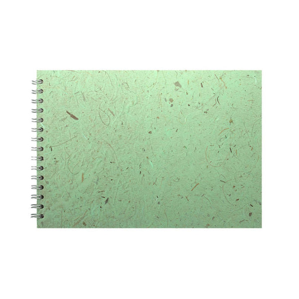 A4 Landscape, Peppermint Sketchbook by Pink Pig International