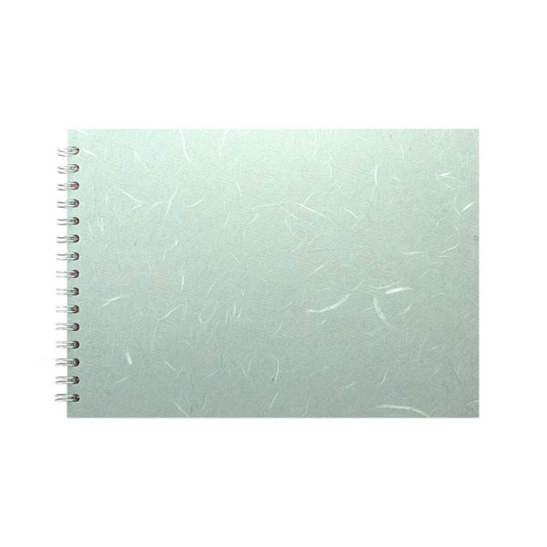 A4 Landscape, Pale Blue Sketchbook by Pink Pig International