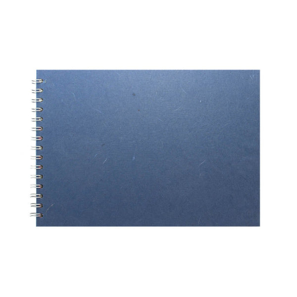 A4 Landscape, Mid Blue Sketchbook by Pink Pig International