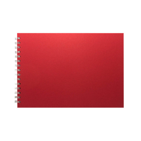 A4 Landscape, Eco Red Sketchbook by Pink Pig International