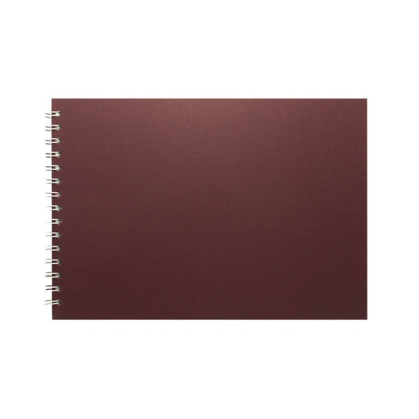 A4 Landscape, Eco Aubergine Sketchbook by Pink Pig International