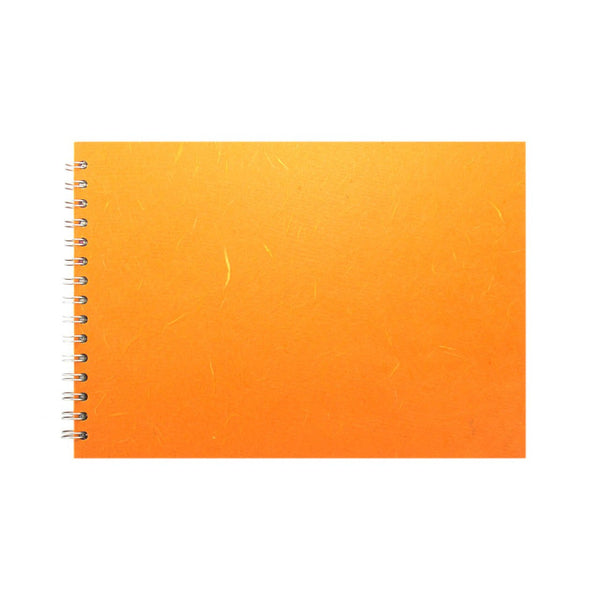 A4 Landscape, Orange Watercolour Book by Pink Pig International