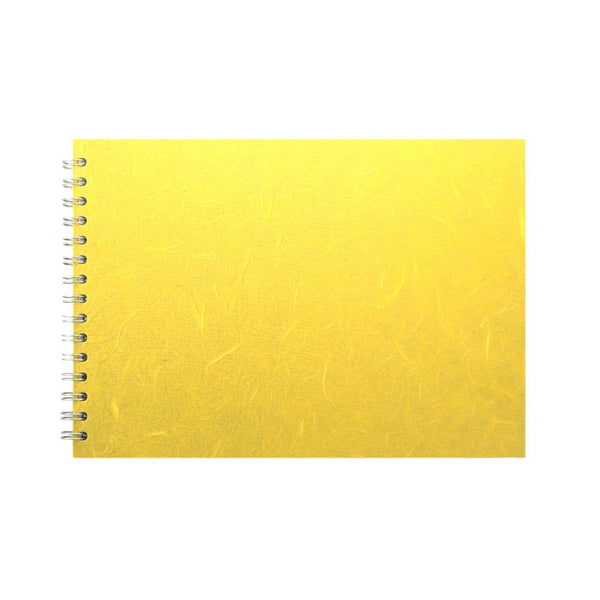 A4 Landscape, Yellow Sketchbook by Pink Pig International