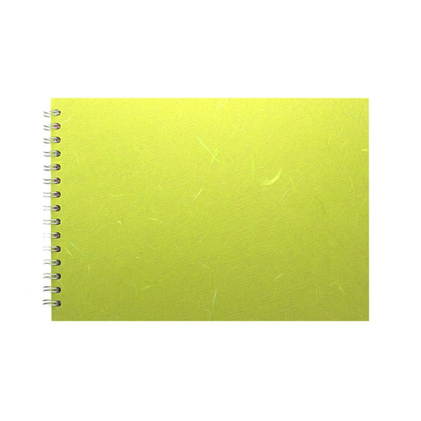 A4 Landscape, Lime Green Watercolour Book by Pink Pig International