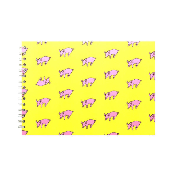 A4 Landscape, Sunshine Yellow Display Book by Pink Pig International