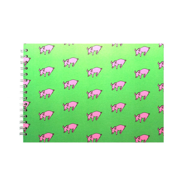 A4 Landscape, Meadow Green Display Book by Pink Pig International