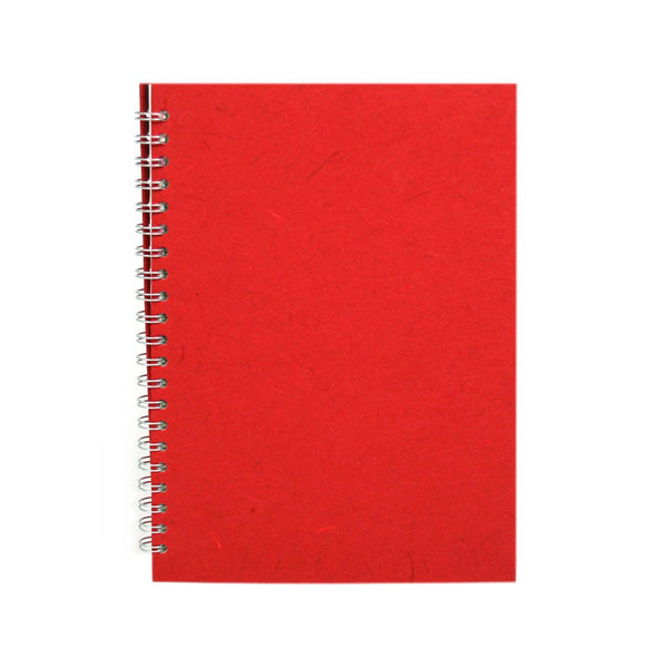 A4 Portrait, Red Sketchbook by Pink Pig International