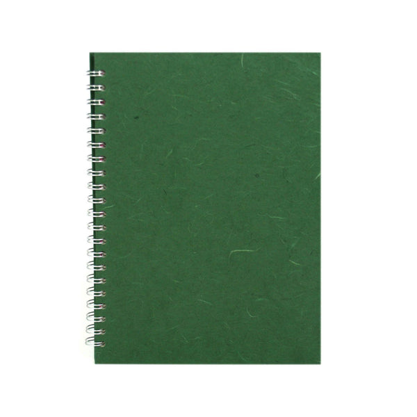 A4 Portrait, Dark Green Watercolour Book by Pink Pig International