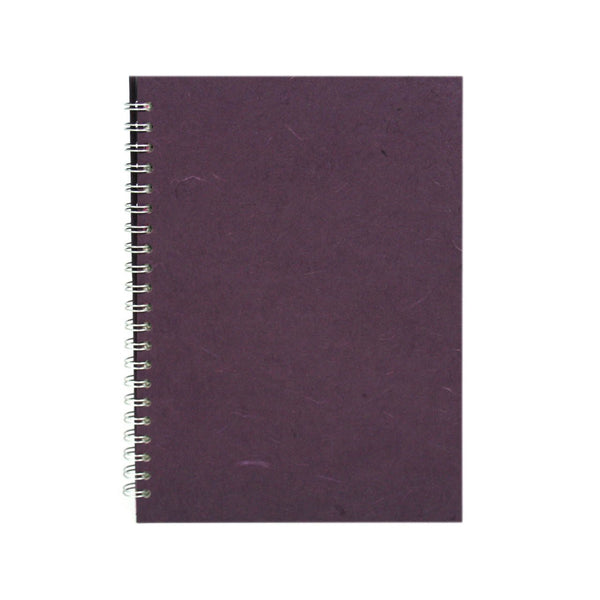 A4 Portrait, Aubergine Notebook by Pink Pig International