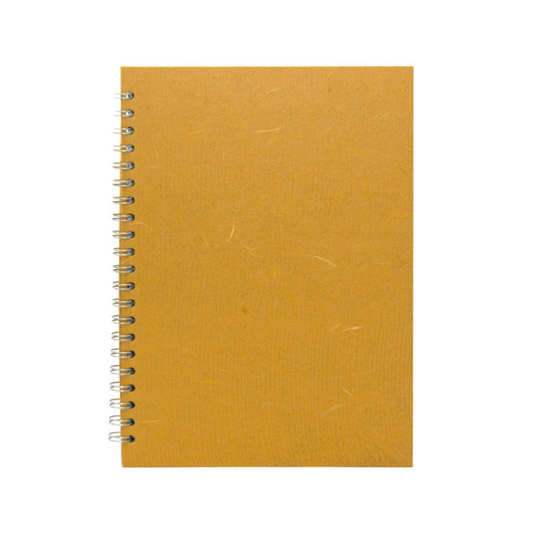 A4 Portrait, Mustard Sketchbook by Pink Pig International