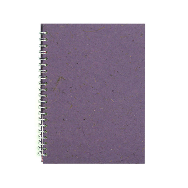 A4 Portrait, Amethyst Notebook by Pink Pig International