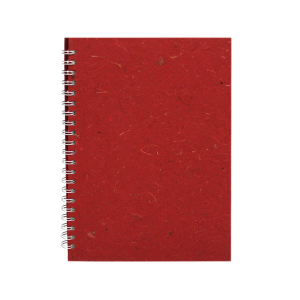 A4 Portrait, Burgundy Notebook by Pink Pig International
