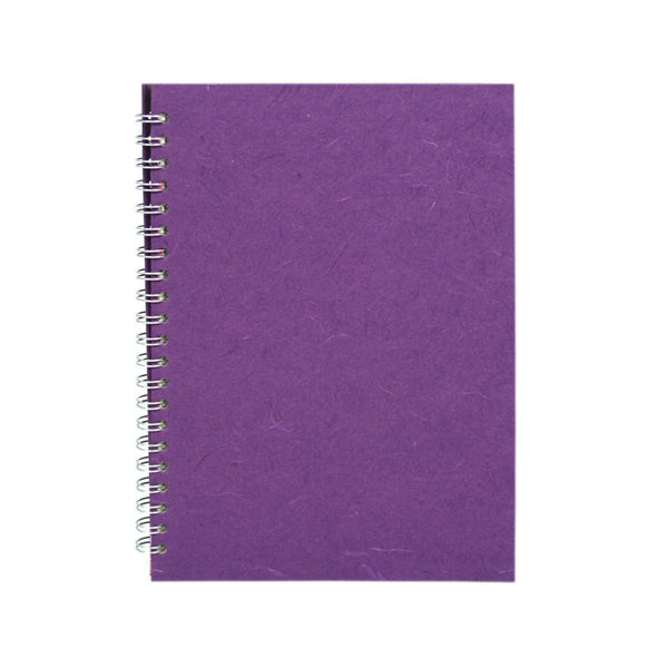 A4 Portrait, Purple Watercolour Book by Pink Pig International