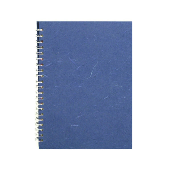 A4 Portrait, Mid Blue Notebook by Pink Pig International