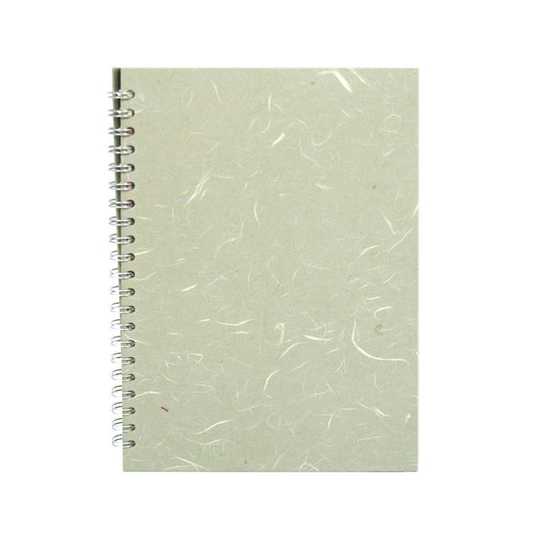 A4 Portrait, Pale Grey Notebook by Pink Pig International