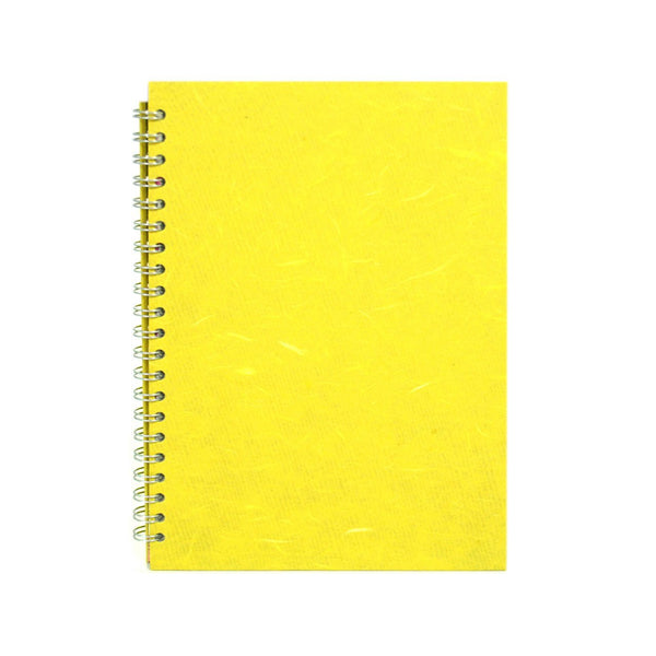 A4 Portrait, Yellow Watercolour Book by Pink Pig International
