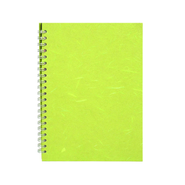 A4 Portrait, Lime Green Watercolour Book by Pink Pig International