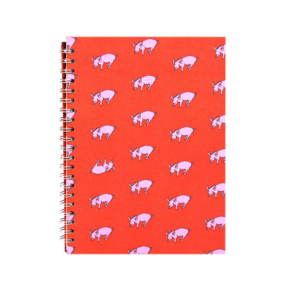 A4 Portrait, Rooster Red Sketchbook by Pink Pig International