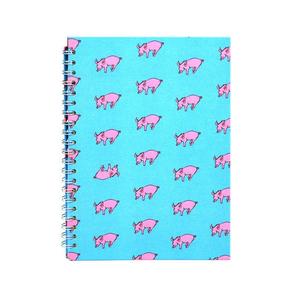 A4 Portrait, Duck Blue Sketchbook by Pink Pig International