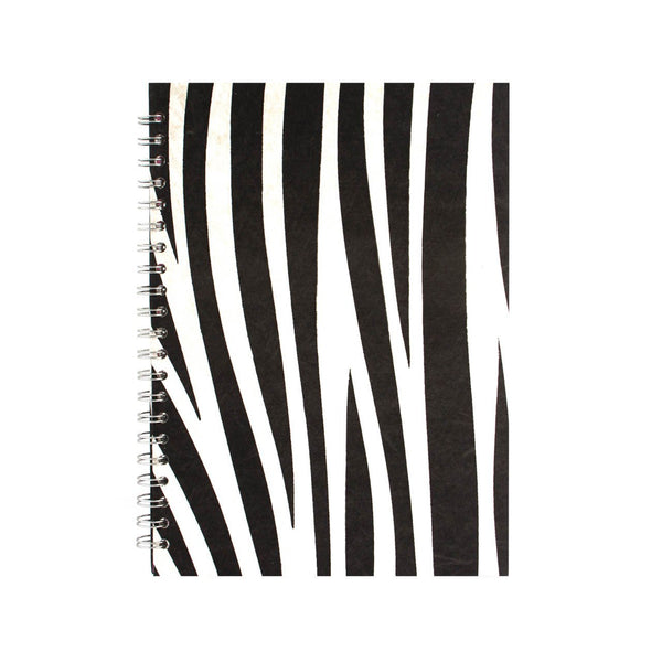 A4 Portrait, Zebra Notebook by Pink Pig International