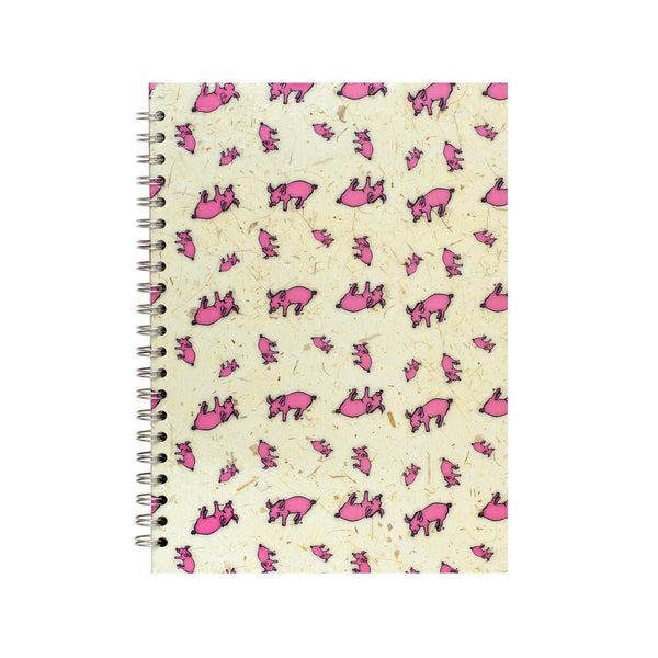 A4 Portrait, Random Pig Notebook by Pink Pig International