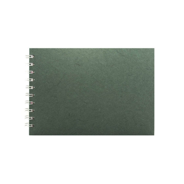 A5 Landscape, Dark Green Sketchbook by Pink Pig International