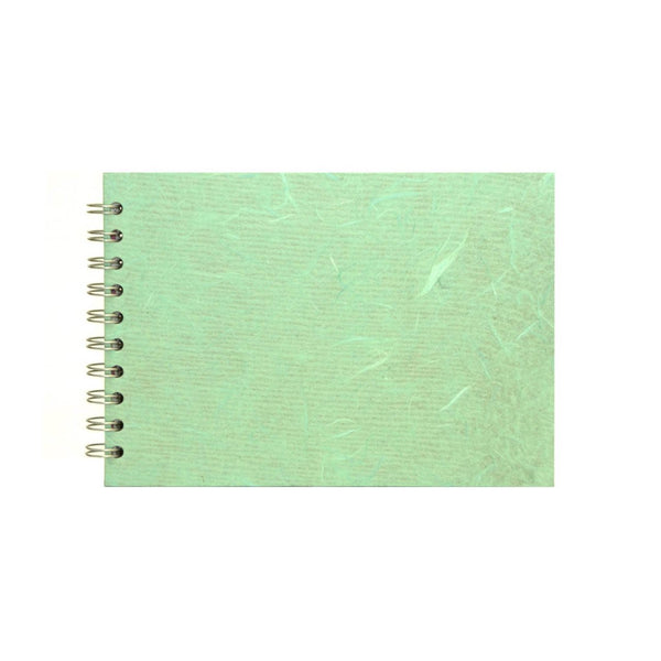A5 Landscape, Sage Sketchbook by Pink Pig International