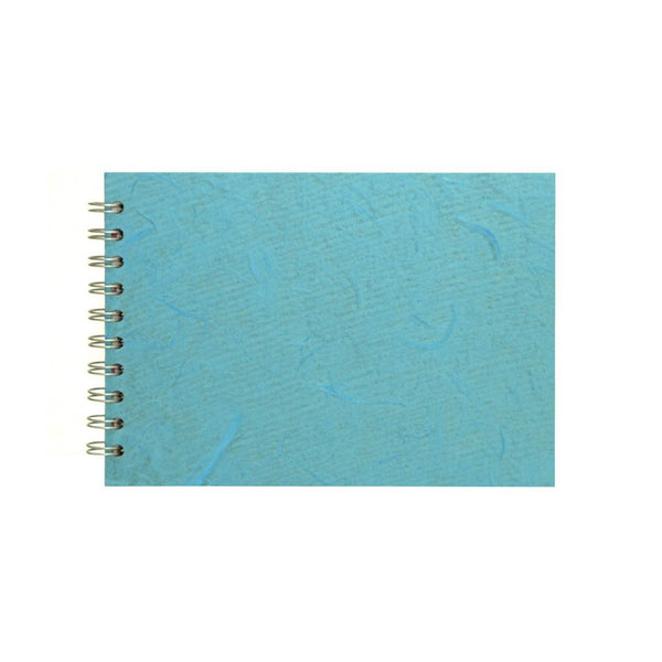 A5 Landscape, Aqua Watercolour Book by Pink Pig International