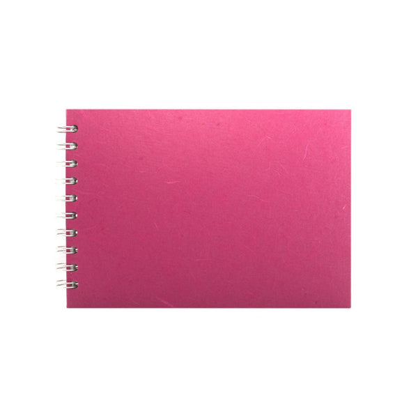A5 Landscape, Bright Pink Sketchbook by Pink Pig International