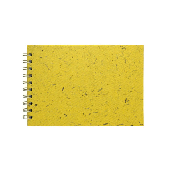 A5 Landscape, Wild Yellow Sketchbook by Pink Pig International