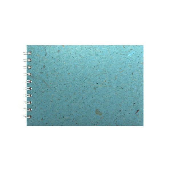 A5 Landscape, Sky Blue Sketchbook by Pink Pig International