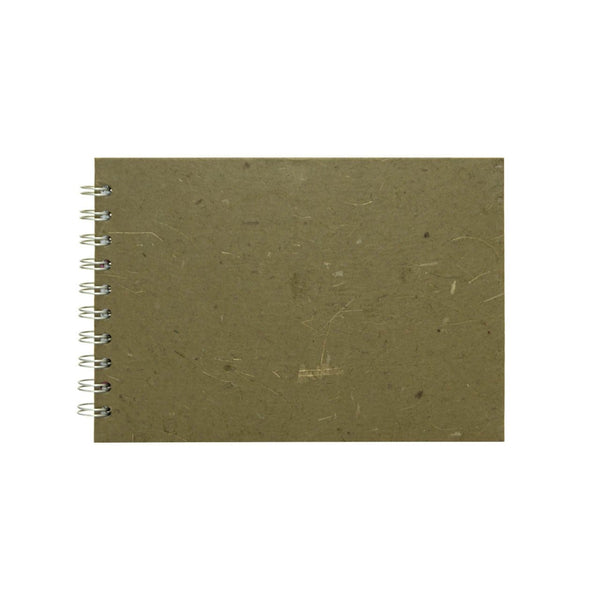 A5 Landscape, Burlap Sketchbook by Pink Pig International