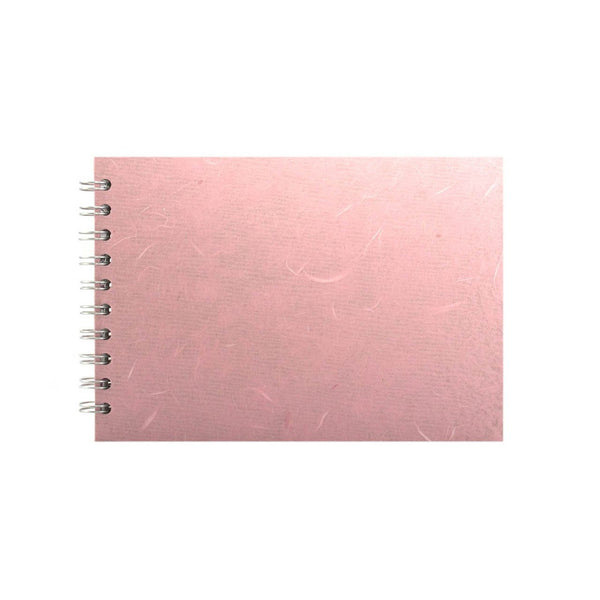 A5 Landscape, Pale Pink Sketchbook by Pink Pig International