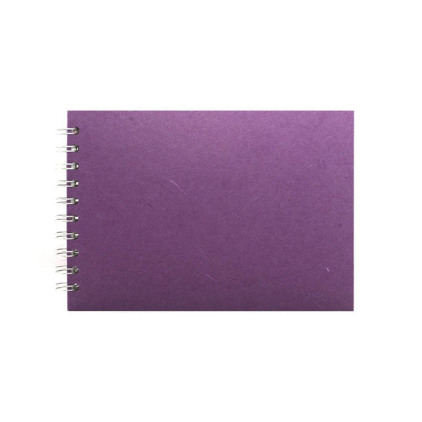 A5 Landscape, Purple Watercolour Book by Pink Pig International
