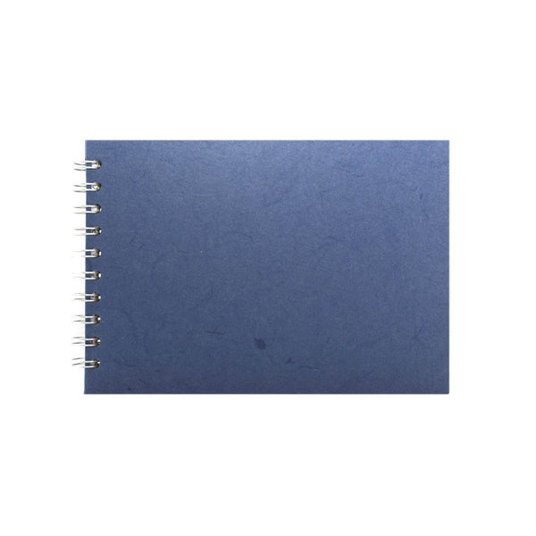 A5 Landscape, Mid Blue Sketchbook by Pink Pig International