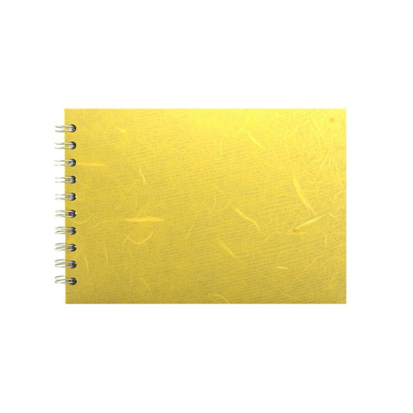 A5 Landscape, Yellow Sketchbook by Pink Pig International