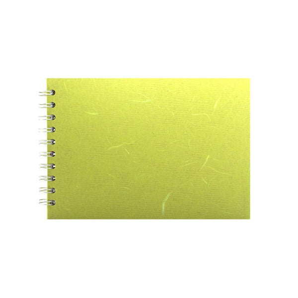 A5 Landscape, Lime Green Sketchbook by Pink Pig International