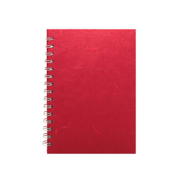 A5 Portrait, Red Notebook by Pink Pig International