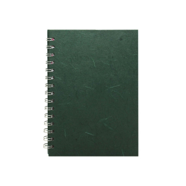 A5 Portrait, Dark Green Watercolour Book by Pink Pig International