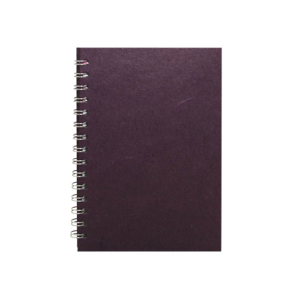 A5 Portrait, Aubergine Sketchbook by Pink Pig International