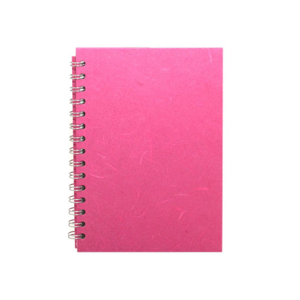 A5 Portrait, Bright Pink Notebook by Pink Pig International