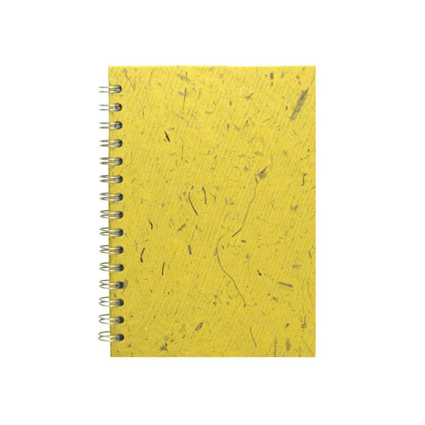 A5 Portrait, Wild Yellow Sketchbook by Pink Pig International
