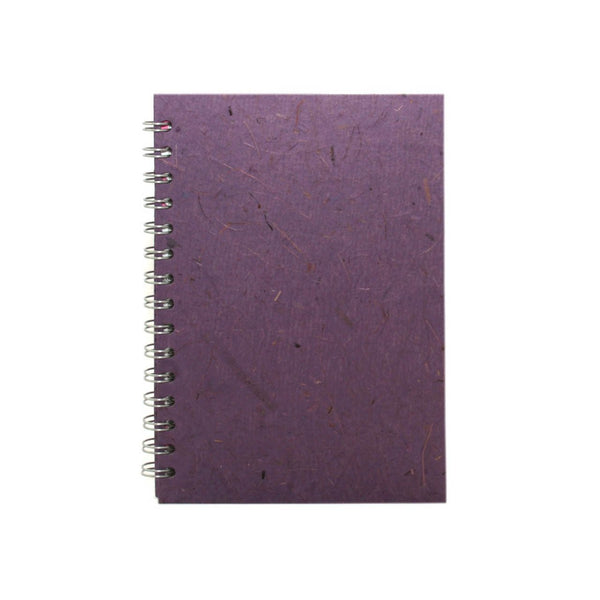 A5 Portrait, Amethyst Notebook by Pink Pig International
