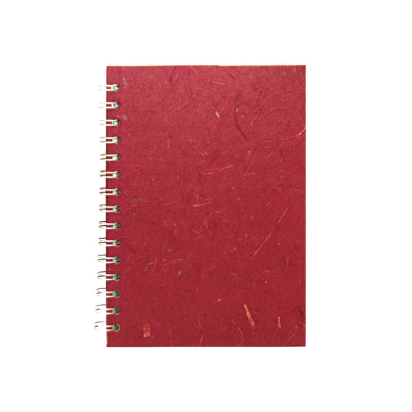 A5 Portrait, Burgundy Sketchbook by Pink Pig International