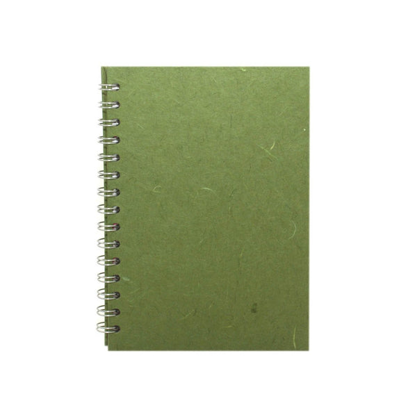 A5 Portrait, Moss Notebook by Pink Pig International