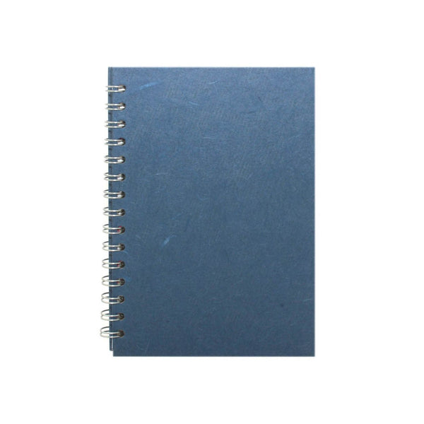 A5 Portrait, Mid Blue Notebook by Pink Pig International
