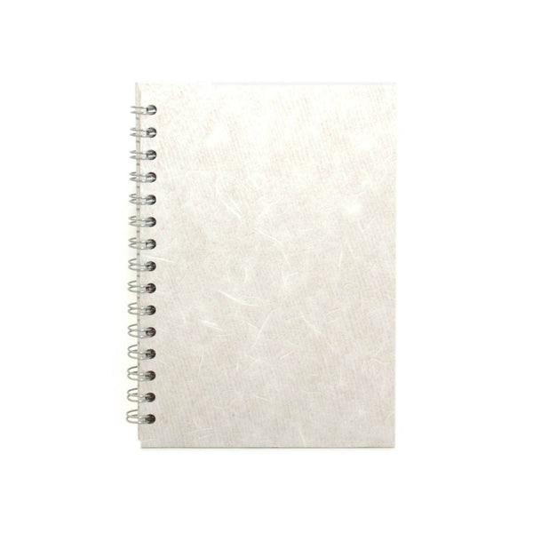 A5 Portrait, White Notebook by Pink Pig International